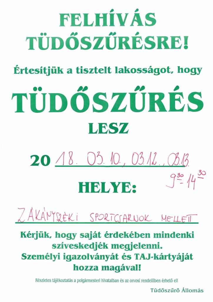plakát tüdőszűrés